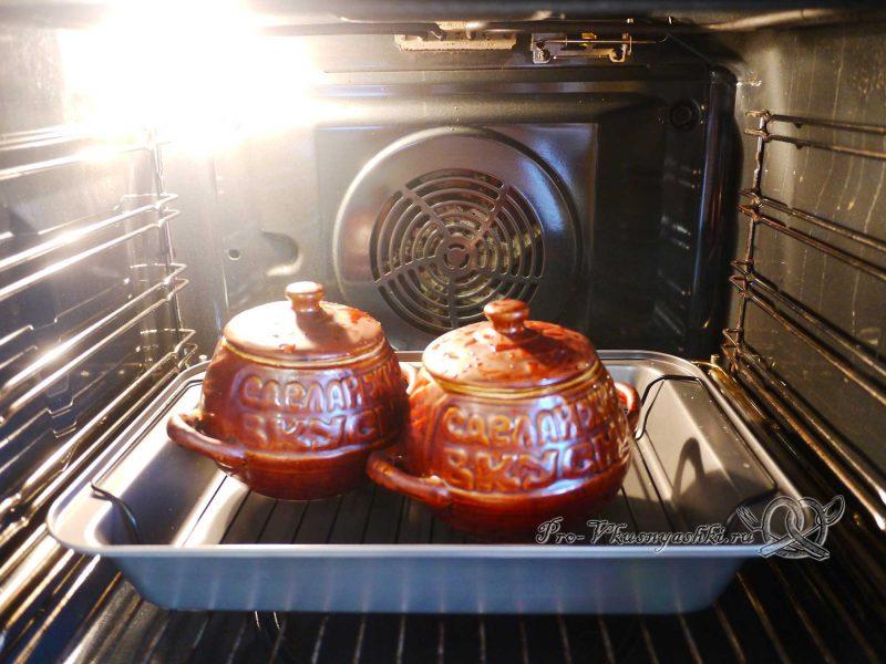 Гречка в горшочках с грибами - горшочки в духовке