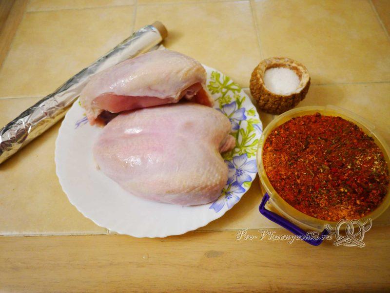 Курица со специями запеченная в духовке - ингредиенты
