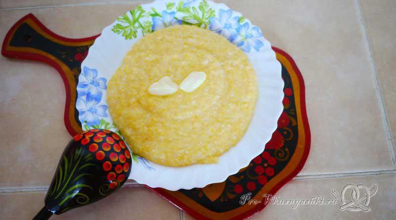 Кукурузная каша на молоке - готовое блюдо
