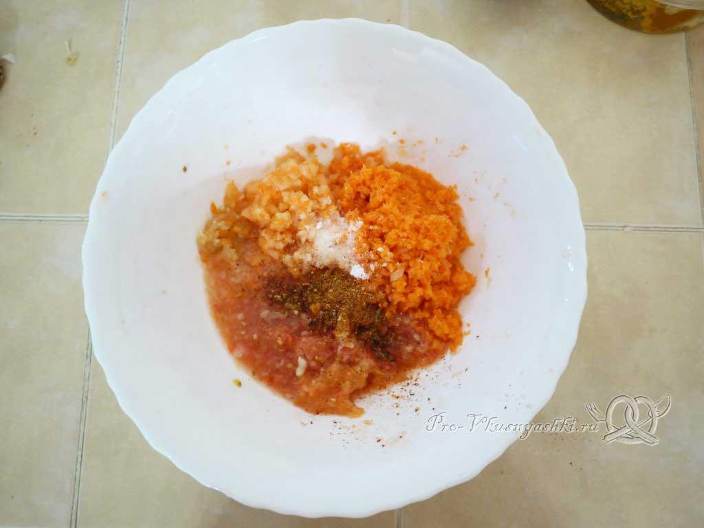 Ленивые голубцы - подготовка овощей соуса