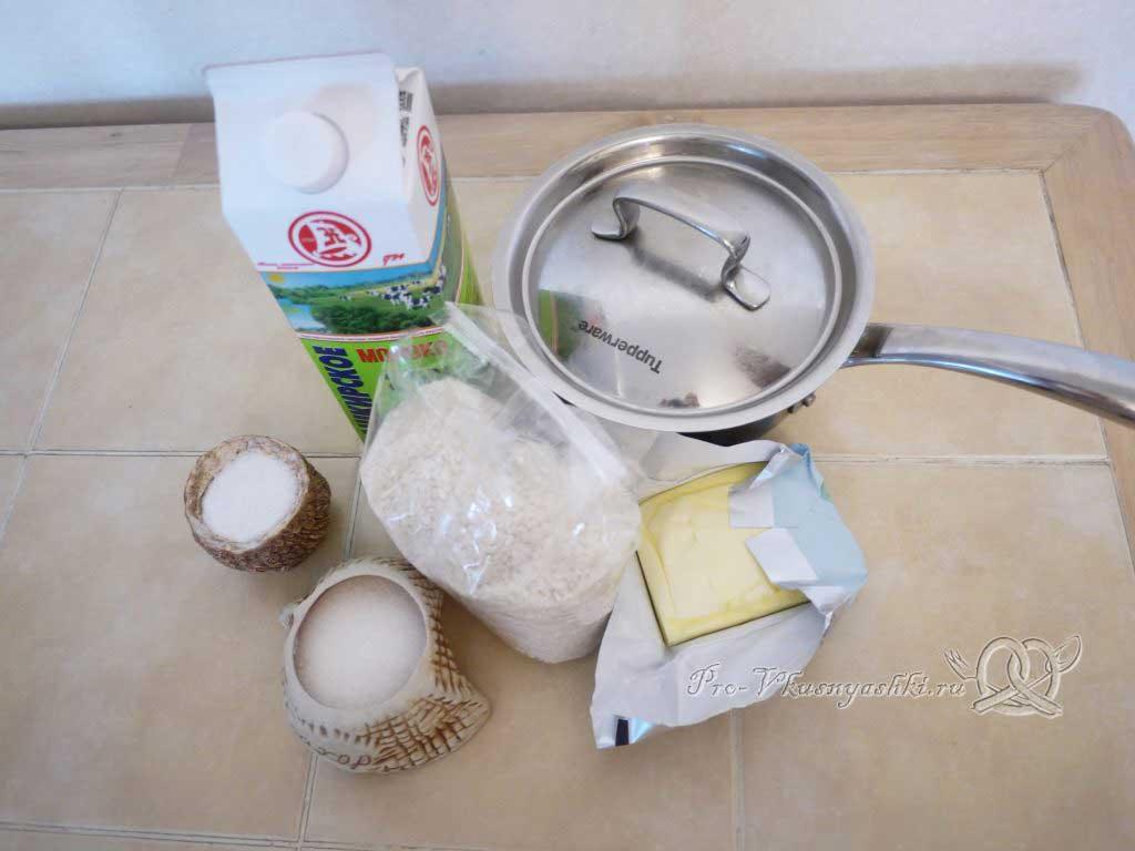 Рисовая каша на молоке - ингредиенты