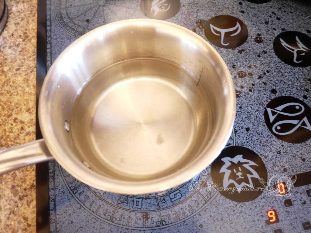 Рисовая каша на молоке - кипячение воды