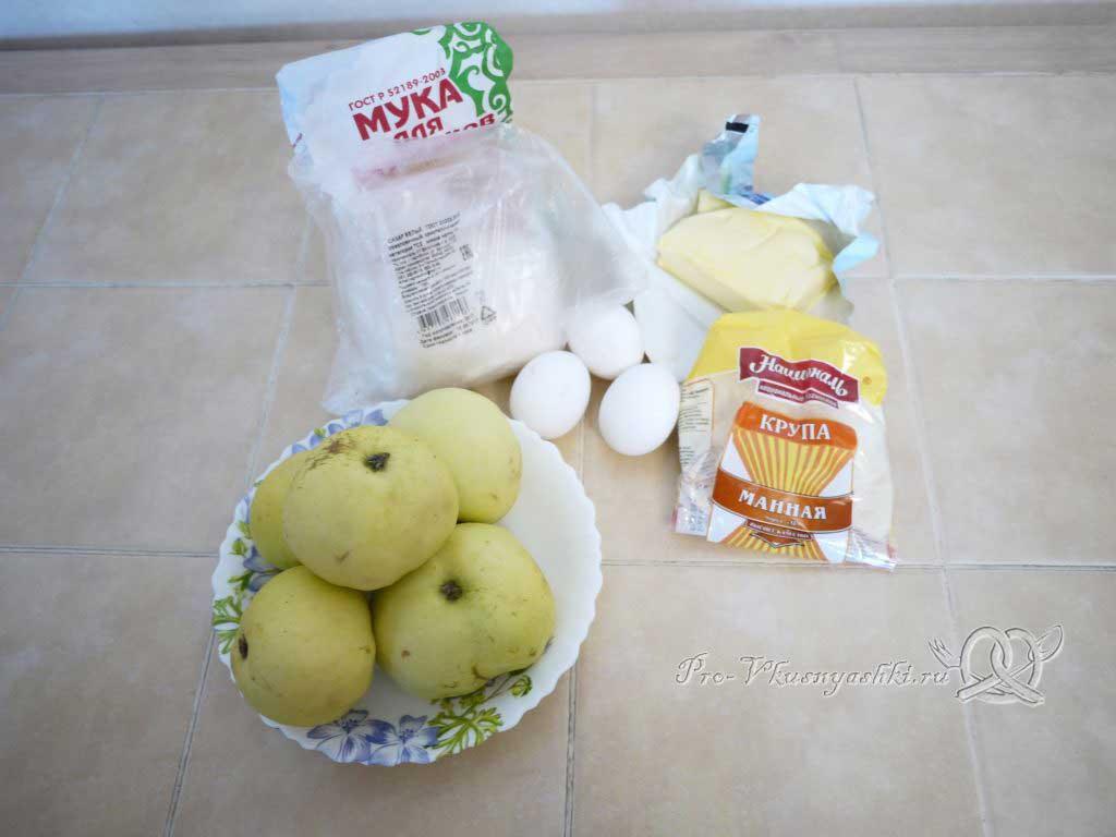 Яблочный пирог Шарлотка в духовке - ингредиенты
