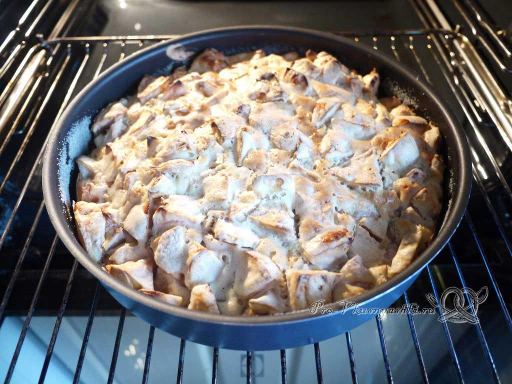 Яблочный пирог Шарлотка в духовке - готовое блюдо