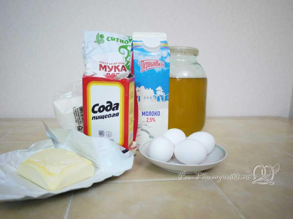 Торт Медовик (Рыжик) классический с заварным кремом - ингредиенты