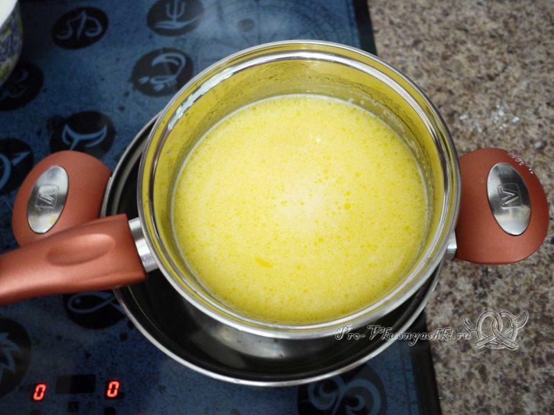 Торт Медовик (Рыжик) с заварным кремом - масло с молоком