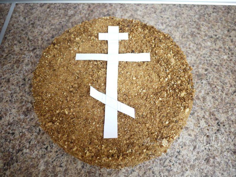 Торт Медовик (Рыжик) с заварным кремом - декор из бумаги