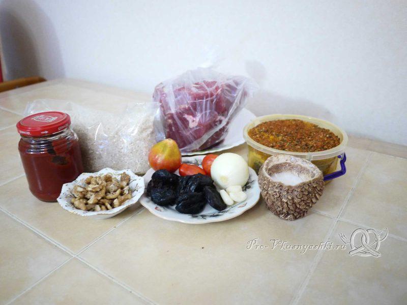 Суп Харчо - ингредиенты