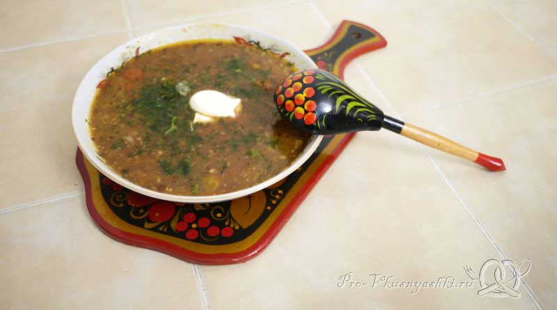 Суп Харчо в домашних условиях - подача