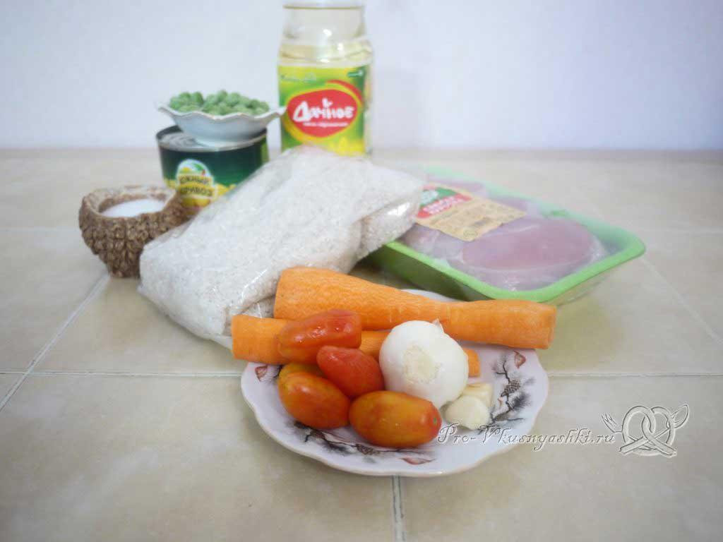 Рис с курицей и овощами - ингредиенты