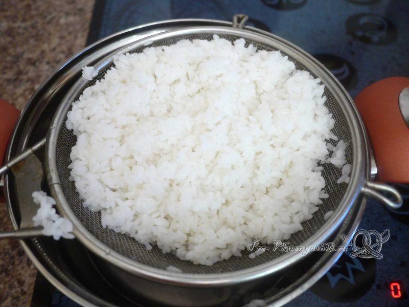 Ризотто - рис с курицей и овощами - промываем рис