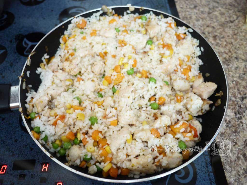 Рис с курицей и овощами - томим ризотто