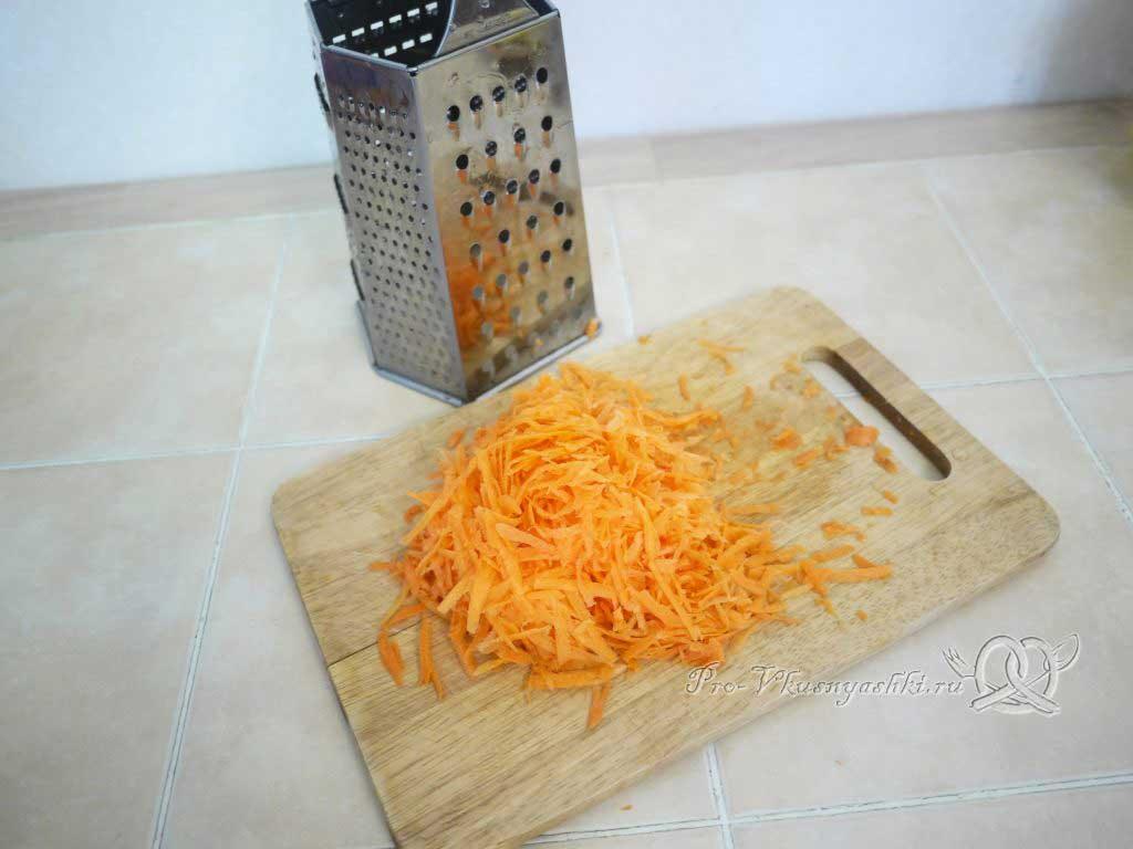 Постные щи из свежей капусты - трем морковь