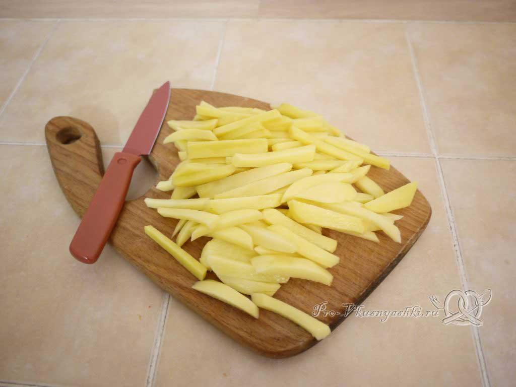 Картофель фри в домашних условиях - нарезка картофеля