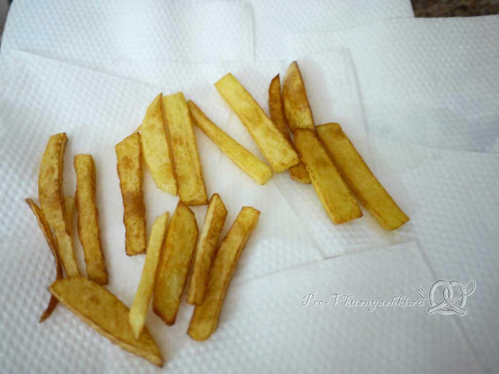 Картофель фри в домашних условиях - убираем масло