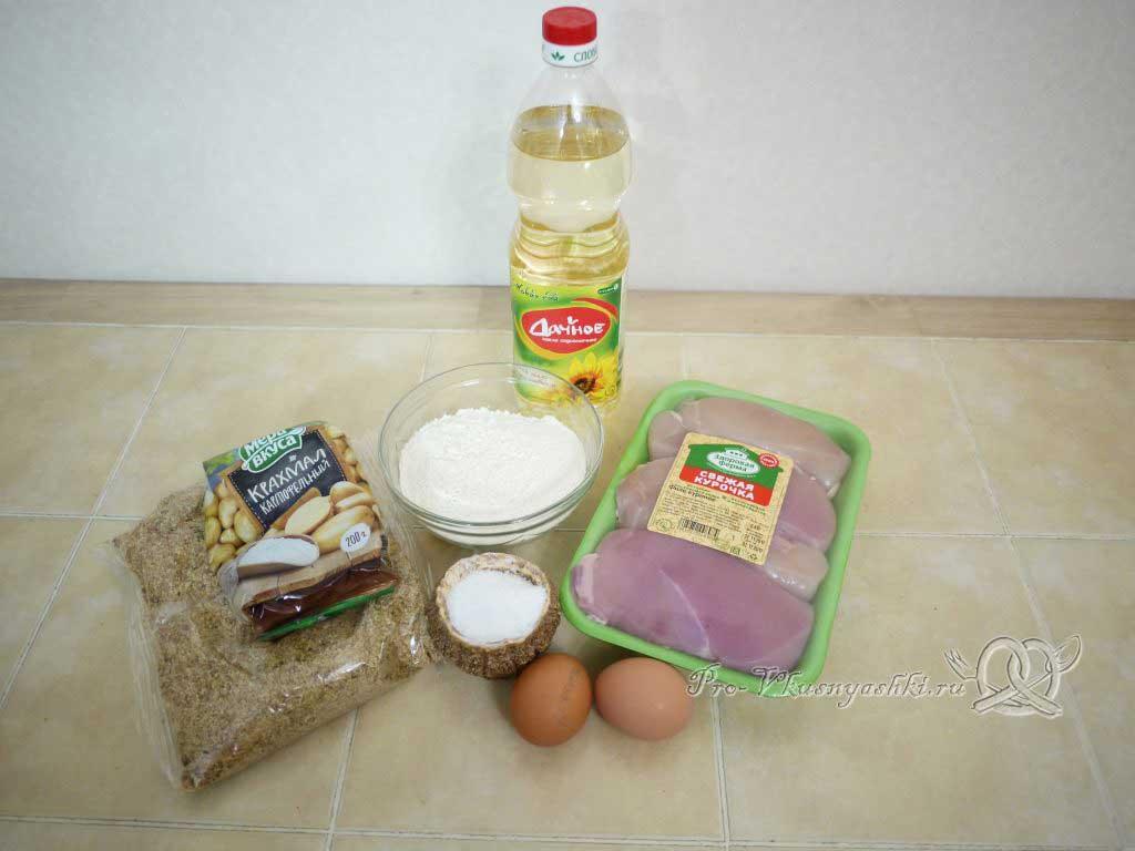 Куриные наггетсы в домашних условиях - ингредиенты