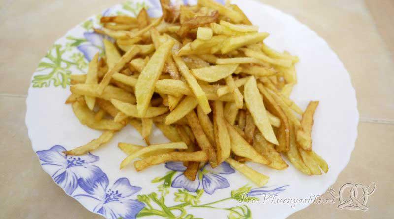 Картофель фри в домашних условиях - подача