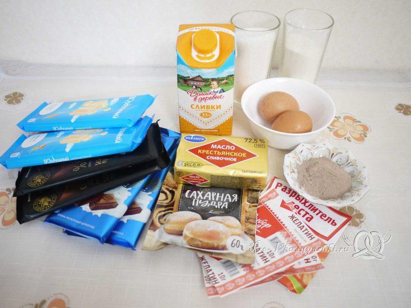 Торт Три шоколада - ингредиенты