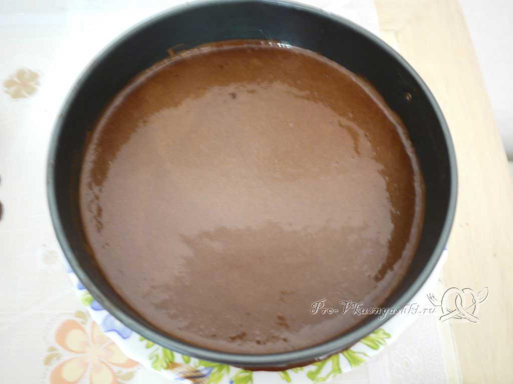 Торт Три шоколада - мусс из горького шоколада в форме