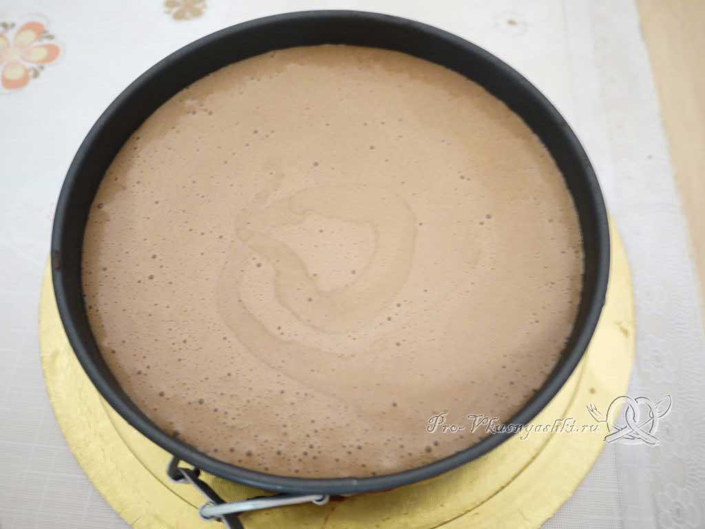 Торт Три шоколада - молочный мусс в форме