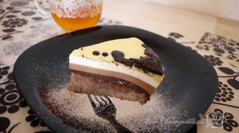 Торт Три шоколада - подача