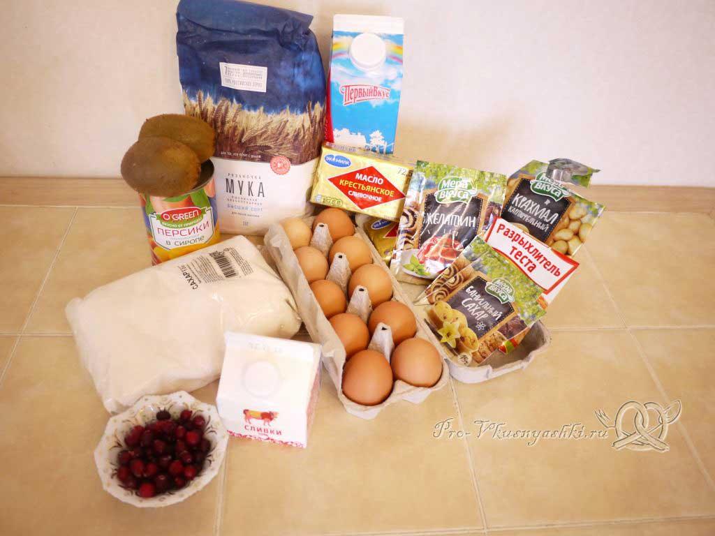 Бисквитный торт Муслин - ингредиенты
