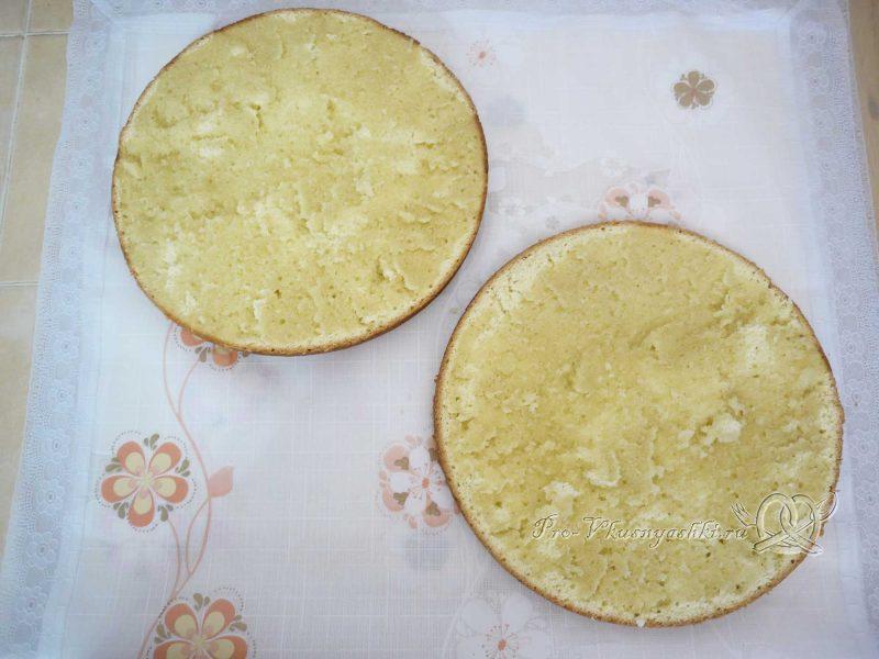 Бисквитный торт Муслин - пропитываем коржи