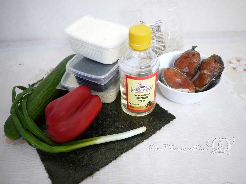Суши - роллы с рисом наружу (урамаки) - ингредиенты
