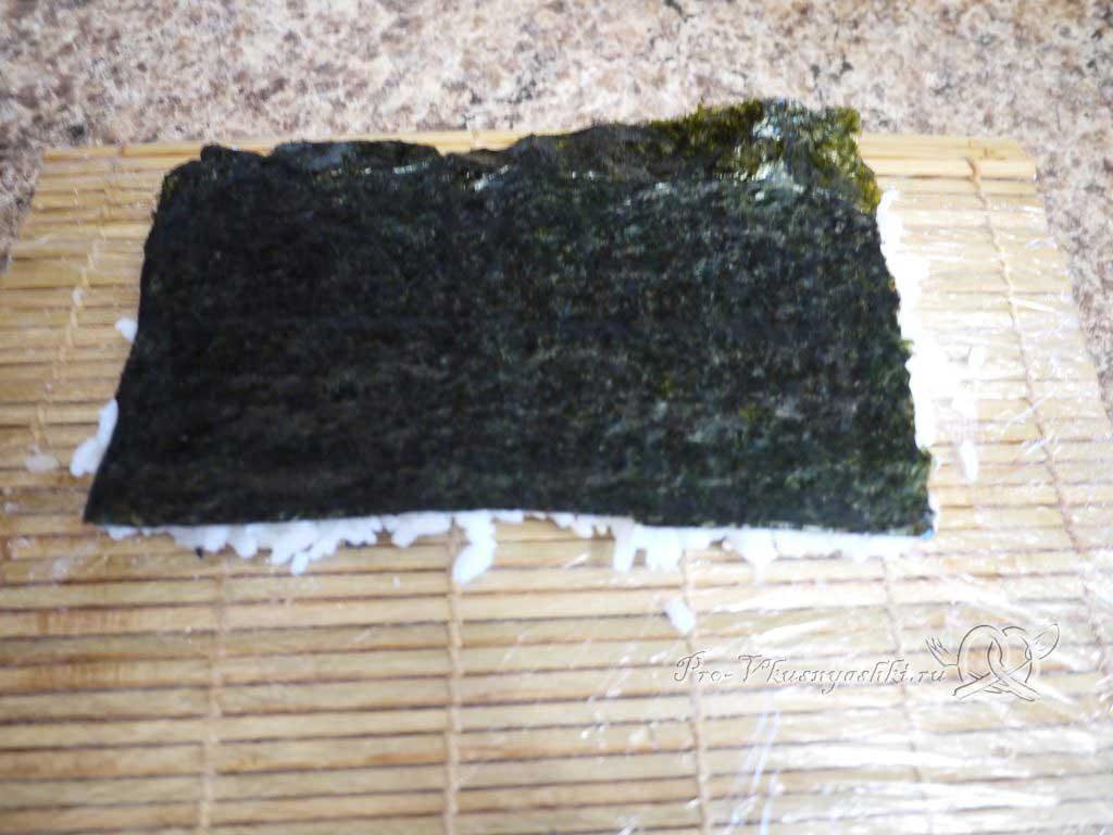 Роллы рисом наружу в домашних условиях - переворачиваем