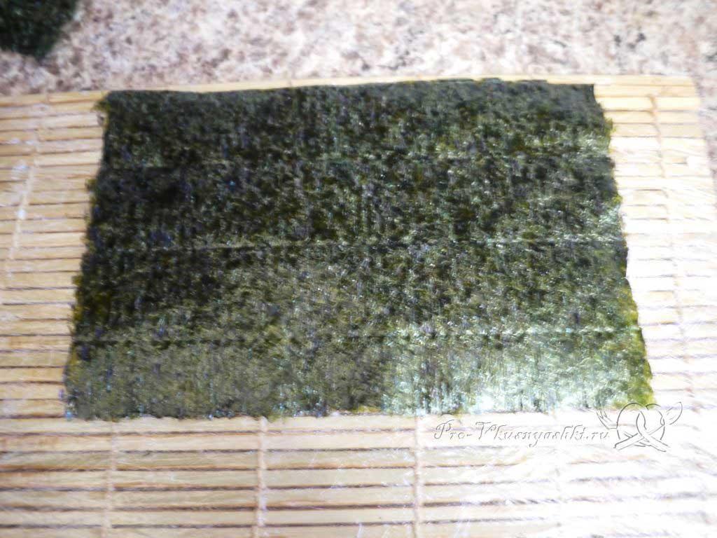 Роллы рисом наружу в домашних условиях - нори