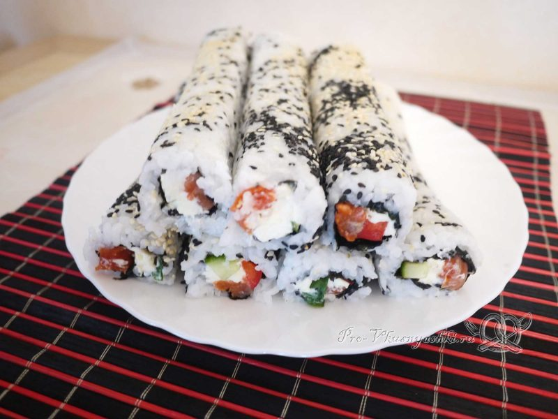 Суши - роллы с рисом наружу (урамаки) - готовые роллы
