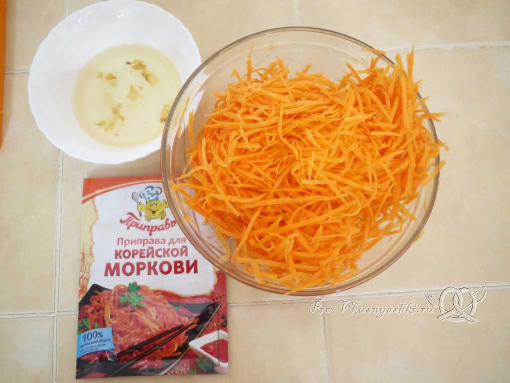 Рулет из лаваша с корейской морковью, капустой и курицей - маринуем морковь