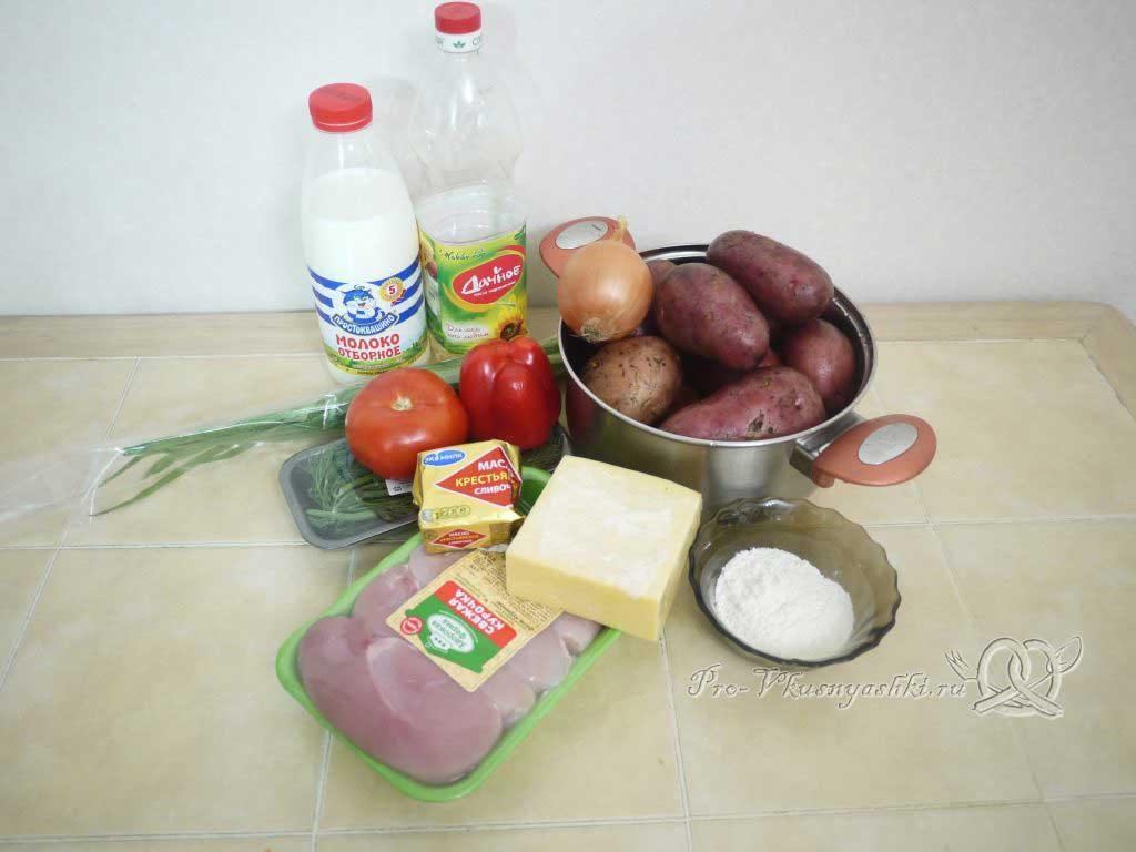 Фаршированный картофель запеченный в духовке - ингредиенты