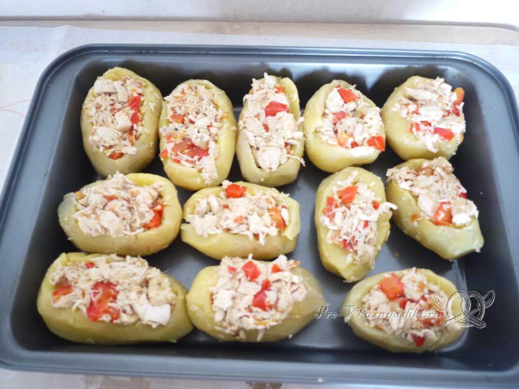 Фаршированный картофель запеченный в духовке - начиняем картофель