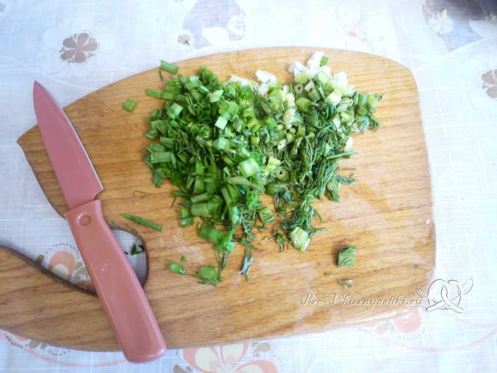Фаршированный картофель запеченный в духовке - рубим зелень