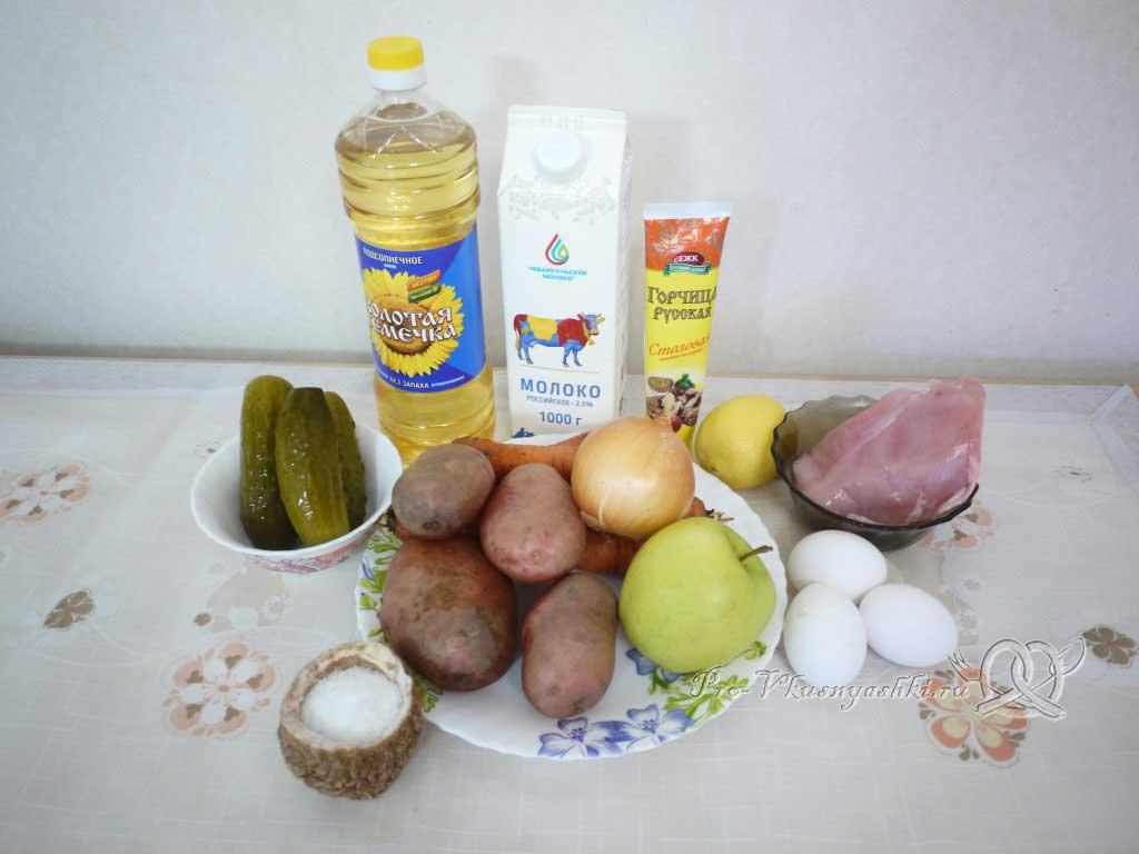 Салат зимний «Оливье» - ингредиенты