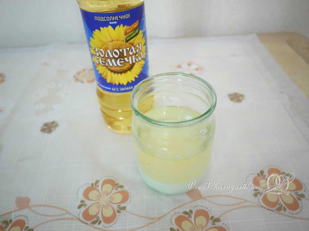 Салат зимний «Оливье» - молоко с маслом