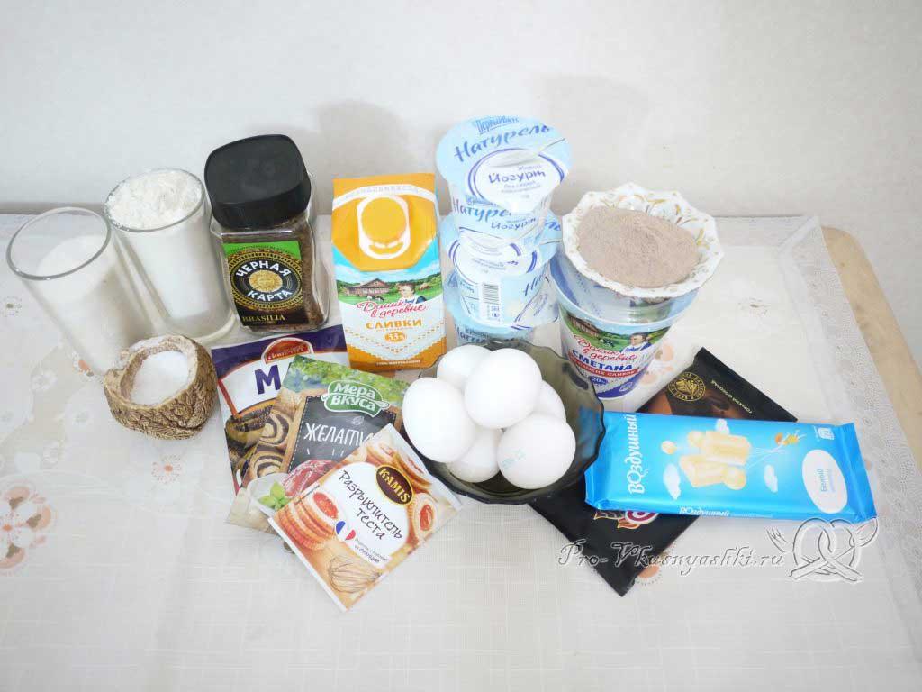Маковый торт с йогуртом и шоколадом - ингредиенты