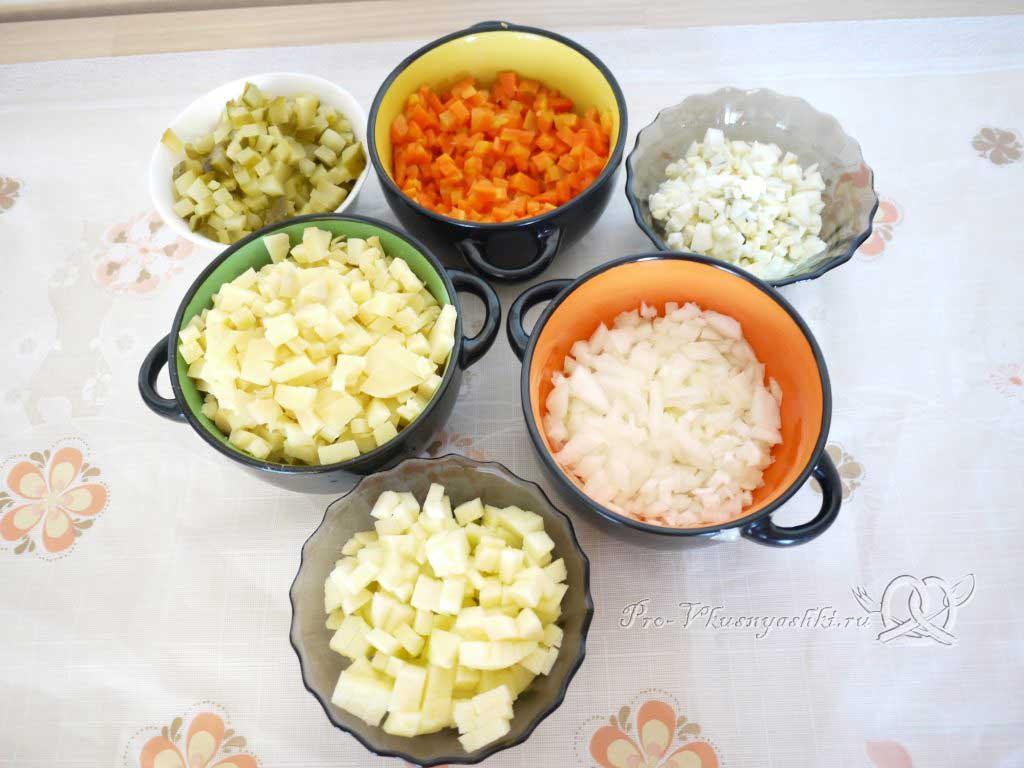 Салат зимний «Оливье» - нарезка
