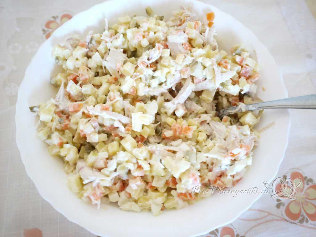 Салат зимний «Оливье» - готовый салат