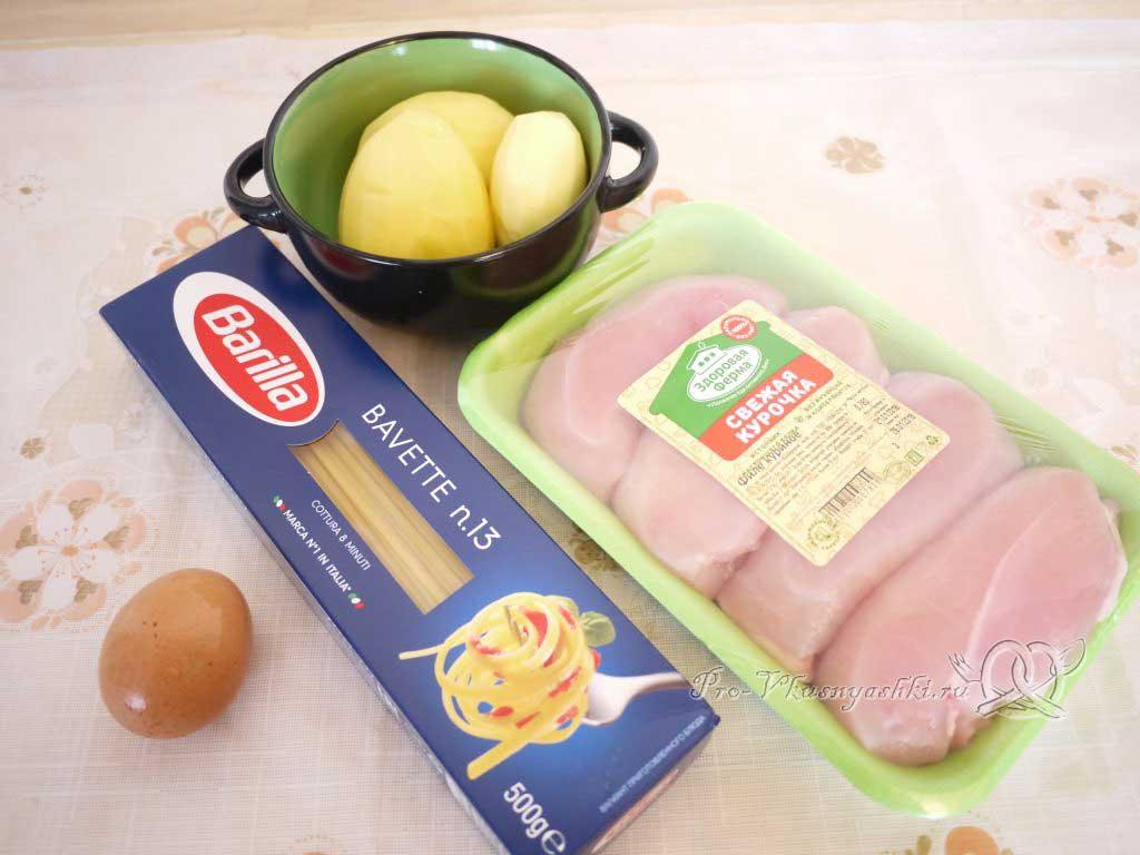 Куриный суп с лапшой и яйцом - ингредиенты