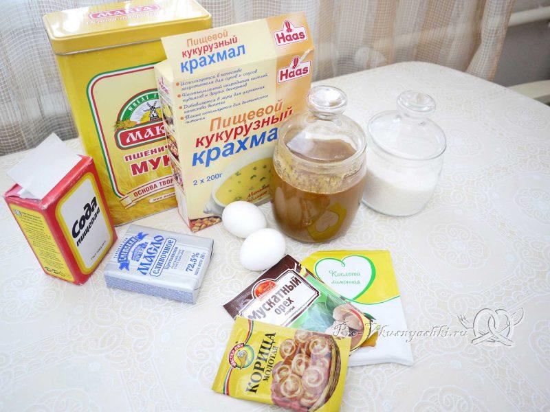 Имбирные пряники с глазурью - ингредиенты