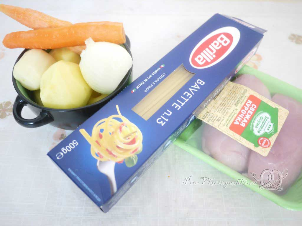 Куриный суп с лапшой и картофелем - ингредиенты