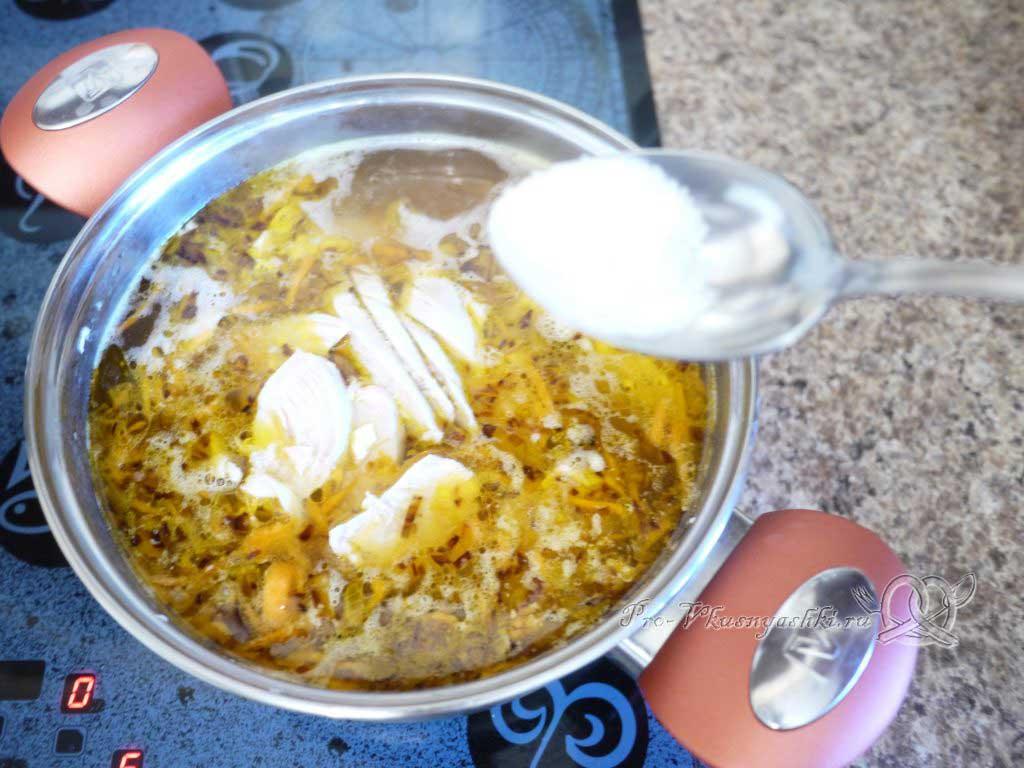 Куриный суп с лапшой и картофелем - солим
