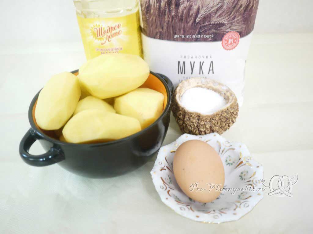 Картофельные драники на сковороде - ингредиенты