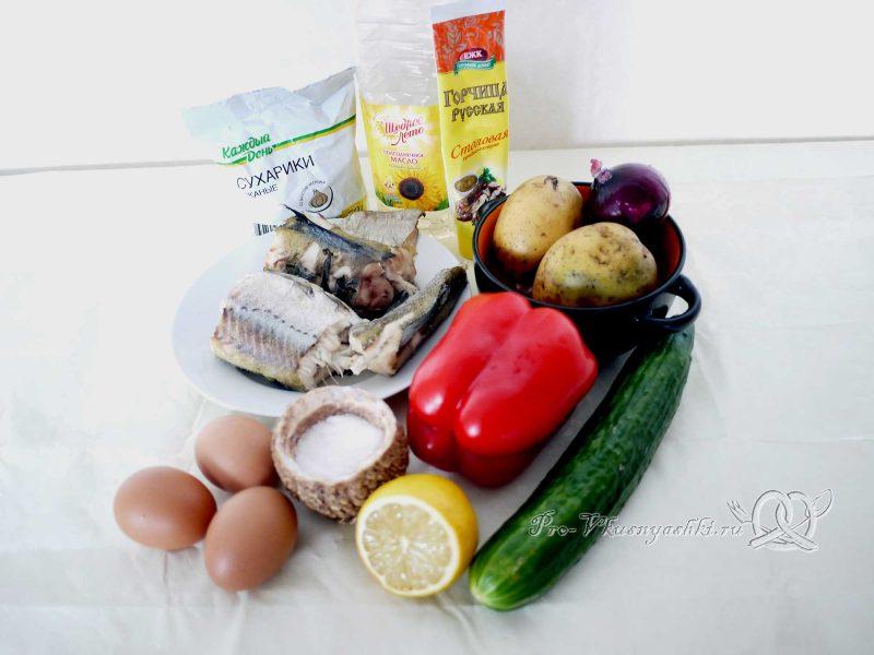 Вкусный салат из минтая - ингредиенты