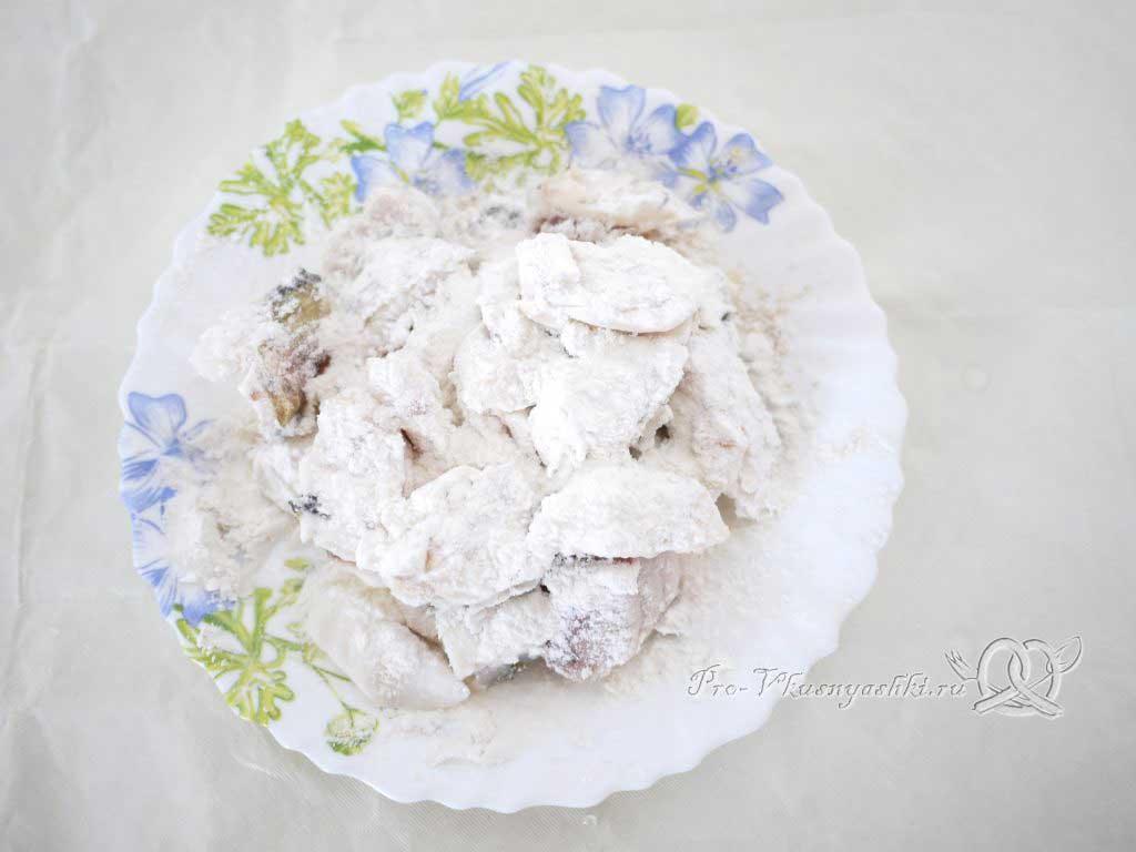 Вкусный салат из минтая - рыба в муке