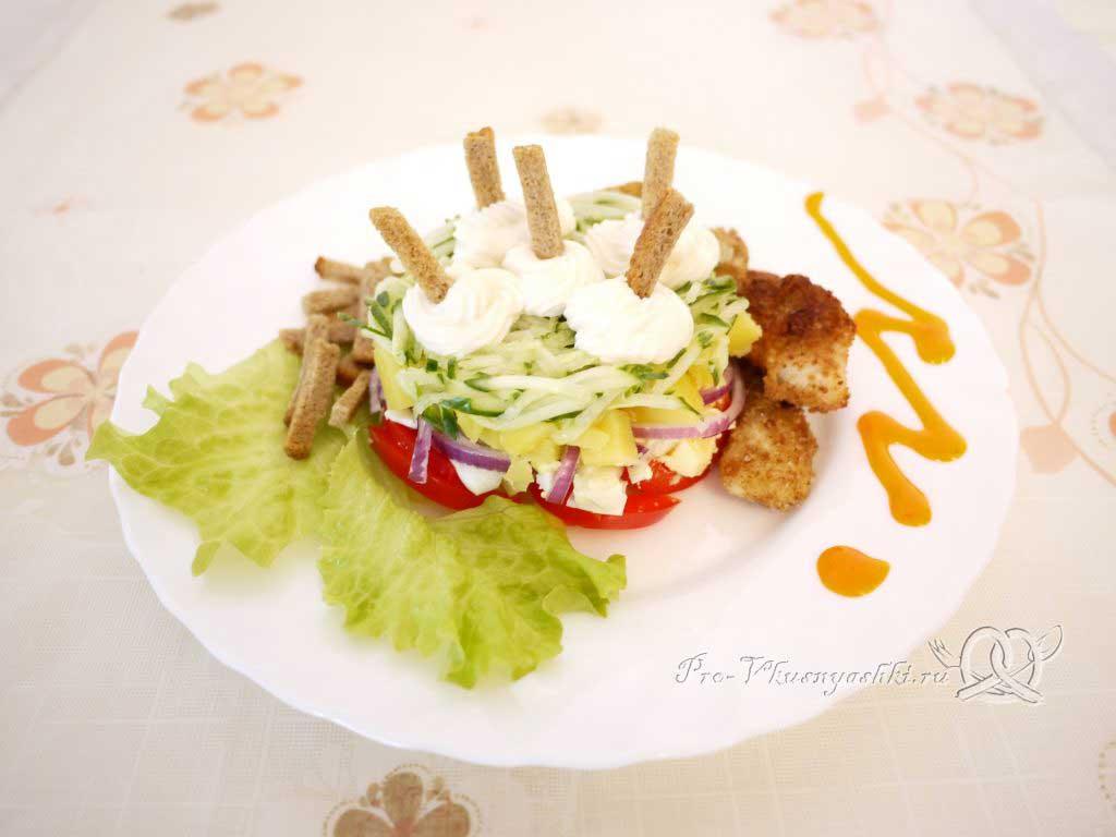 Вкусный салат из минтая - подача