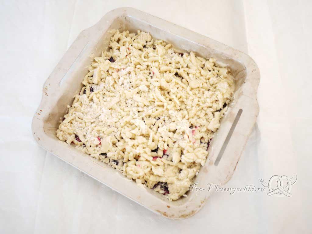 Песочное печенье с вареньем и крошкой - посыпаем крошкой