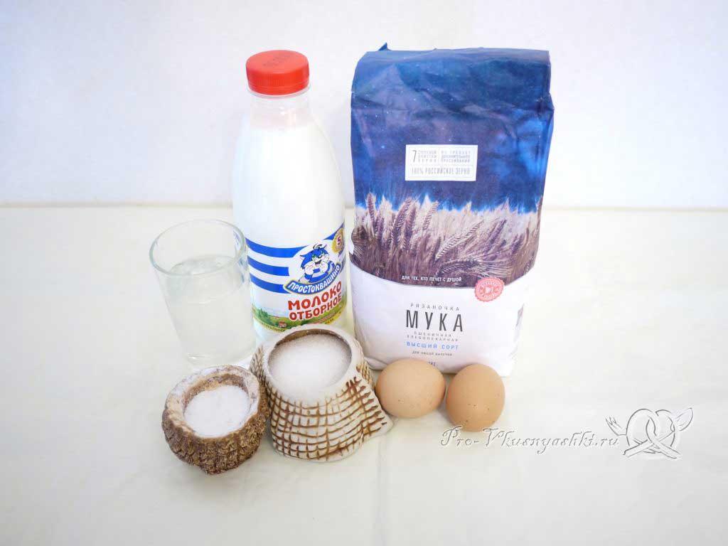Блины классические на молоке (воде) - ингредиенты
